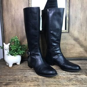 Franco Sarto Cecile Black Tall Riding Boots 9.5M